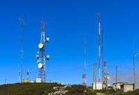 Telekommunikationseinrichtungen auf dem Berg Fóia, Monchique, Portugal