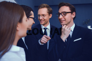 Business people meeting discussion