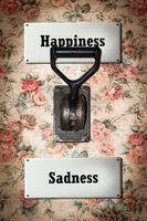 Street Sign Happiness versus Sadness