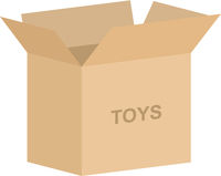 Childrens Toy Box Vector