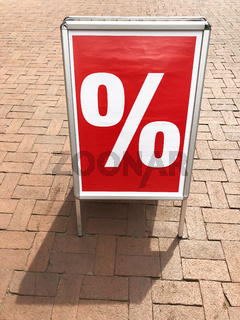 customer stopper sign advertising sale