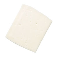 Goat Cheese Slice Isolated On White Background