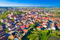 Town of Koprivnica green landscape aerial view