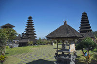 Long shot of capmus of Pura besakih temple, Indonesia