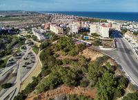 Torrevieja townscape and Aromatic Park. Spain