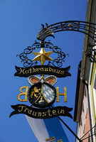 Gasthausschild Hofbräuhaus Traunstein