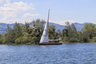 Segelboot, Bodensee, Landschaftsbild