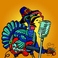 Thanksgiving Turkey character singer. Holiday party