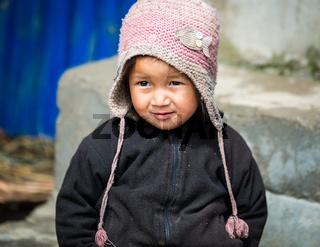 Nepali girl in Lamjung district, Nepal