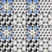 tile pattern -  geometric patchwork design , decorative tiles -