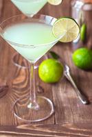 Glass of classic daiquiri cocktail
