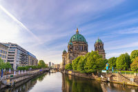 Berlin Germany, city skyline at Berlin Cathedral (Berliner Dom) and Spree River