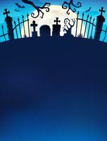 Cemetery gate silhouette theme 7