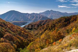 Nakatsugawa gorge from view point Azuma lake line