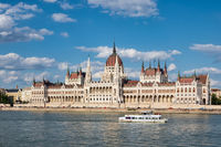 Parliament Building along river Danube, seat National Assembly of Hungary
