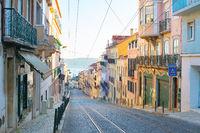 Lisbon Old Town street. Portugal