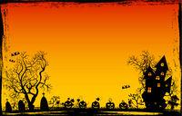 Grunge frame Halloween background