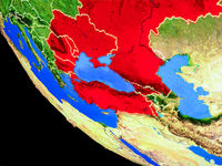 Black Sea Region on Earth from space