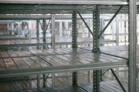 Empty warehouse racks