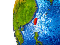 Taiwan on 3D Earth