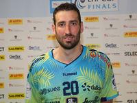 Raphael Caucheteux (Saint-Raphael Var Handball) beim Ottostadt Magdeburg EHF-Cup Finals 2018