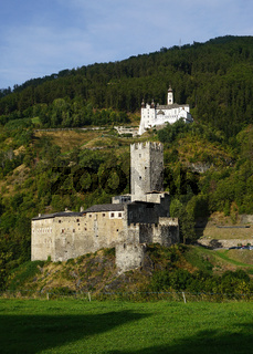 Abtei Marienberg und Fürstenburg, Burgeis, Italien, Vinschgau, Suedtirol,