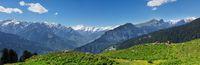 Panorama of Himalayas, India
