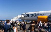 Flugzeug von Condor auf Kreta