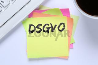 DSGVO Datenschutz Grundverordnung Verordnung Regel EU Europäische Union Internet Konzept Schreibtisch Computer