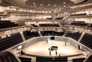 Der große Saal der Elbphilharmonie in Hamburg