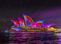 Sydney Opera House illuminated during Vivid Sydney