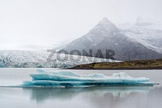 Iceberg in Fjallsarlon glacier lagoon, Iceland