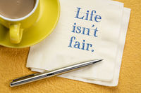 Life is not fair note