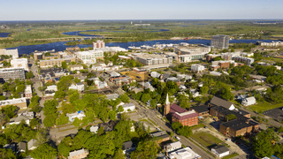 Bright Sunshine Hits the Buildings and Homes of Wilmington North Carolina