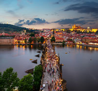 Charles Bridge from above