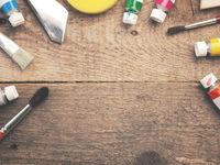 Assortment of painter utensils