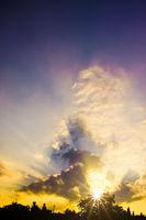 urban sunset sky background