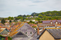The roofs of the small town in West Dorset. England