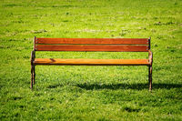 Bench on the lawn