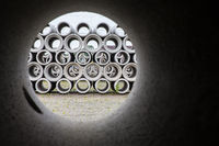 Circular look through concrete sewer pipe