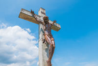 Christ of Peace in the district called Divisa in Medellin Colombia