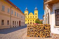 Osijek old town Tvrdja street view
