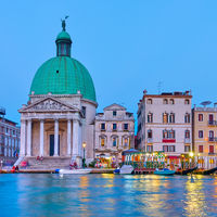 The Grand Canal and San Simeone Piccolo church in Venice
