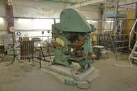 Old massive metalworking machine in the workshop