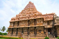 Niches and southern entrance to the mukhamandapa, Brihadisvara Temple, Gangaikondacholapuram, Tamil Nadu, India