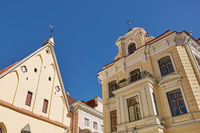 Downtown architecture of old town city of Tallinn in Estonia