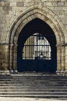 Steel patterned gates