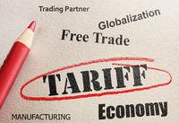 Circled Tariff text