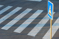 pedestrian road crosswalk zebra sign