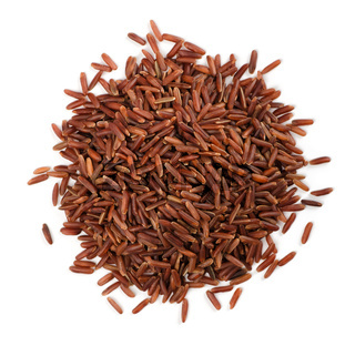 Top view of red rice